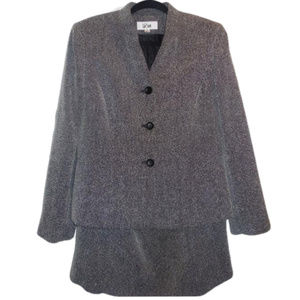 Le Suit Jacket & Skirt Suit size 12 Career Wear